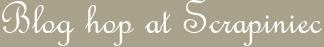 Blog hop at Scrapiniec